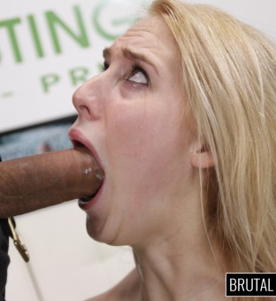 Cadence Lux throat gagged at Brutal Castings