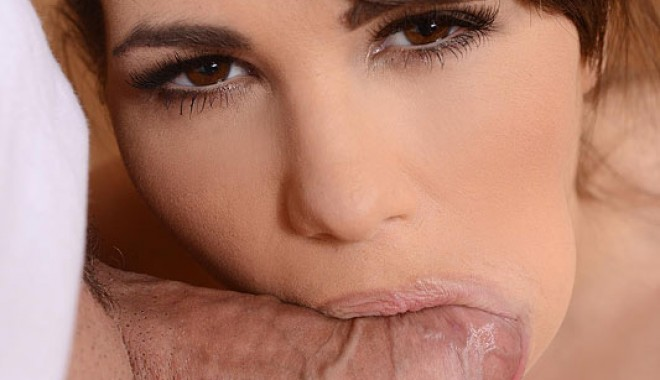 Cinthia Doll with a mouthful of cock